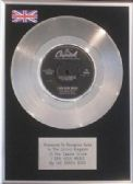 "THE BEACH BOYS - 7"" Platinum Disc - I CAN HEAR MUSIC"